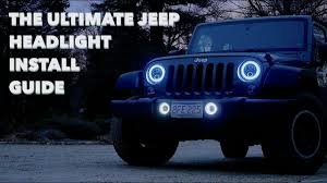 Halo Lights Com The Ultimate Jeep Headlight Fog Light Install Suparee Rgb Halo Lights