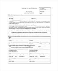 Residential Rental Lease Application Form Free Sample – Onbo Tenan
