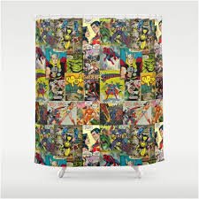 full size of furniture charming superhero shower curtain 7 vintage comics superhero shower curtains and accessories