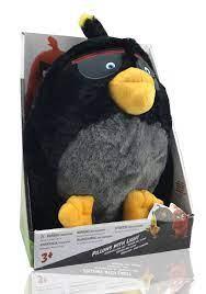 Angry Birds Bomb Plüschtier mit leuchtenden Augen 30 cm Schwarz
