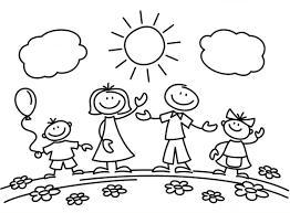 50 bức tranh tô màu gia đình đẹp nhất dành cho bé