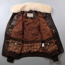 avirex fly air force flight jacket fur collar genuine leather jacket men winter dark brown sheepskin coat pilot er jacket