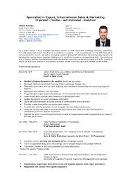 import export resume samples