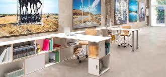 office work desks. Designed To Work In Tandem, Our Modern Dining Tables And Office Desks Easily Rest On Two Stacked BrickBox Units.