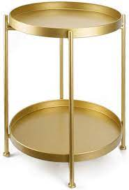 side table small tray metal end table 2