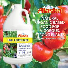 Alaska Fish Fertilizer Feeding Chart Alaska Fish Emulsion Fertilizer And Plant Food 1 Gallon