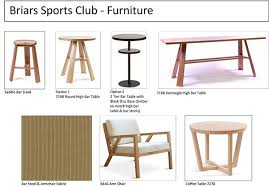 the new furniture for the sports bar has been ordered below are some sketches and photos of the furniture lighting and samples of the finishes which will bar furniture sports bar