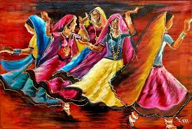 indian folk dance painting indian folk dance by rekha rai