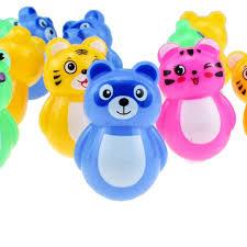 <b>4pcs</b>/<b>lot</b> Mini <b>Cute Bear</b> Tiger <b>Frog</b> Cat Model Daruma Doll for Kid ...