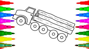 logging coloring pages logging construction truck drawing and coloring for kids coloring