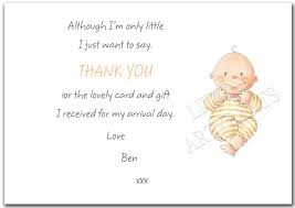 Baby Gift Thank You Note Personalised New Baby Gift Thank You Card Notes Ebay