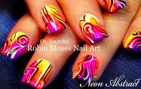 FANTASTIC Abstract Nails | HOT Neon Rainbow Nail Design Tutorial ...