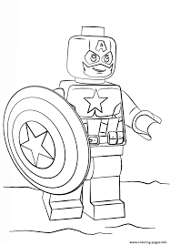 Small Picture lego captain america Coloring pages Printable