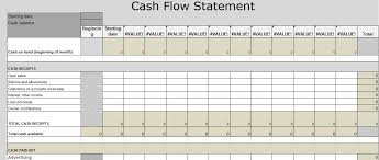 format of cash flow statements cash flow statement excel template download spreadsheettemple