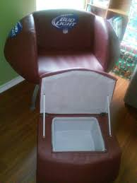 used bud light football chair with ottoman cooler in san antonio