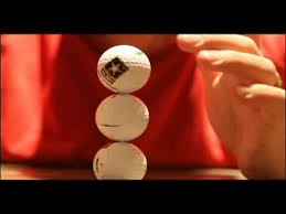 a golf ball will need to be leaning on its tiny dimple in order to remain le and three golf need to be stacked on one another to win the game