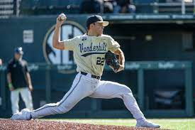Draft prospect Jack Leiter throws no ...