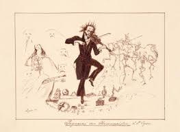 Caricatura di Lyser (Ludwig Peter August Burmeister)/ Caricature by Lyser  (Ludwig Peter August Burmeister)   niccolopaganiniilmaestro