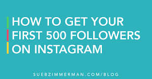 How To Get Your First 500 Followers On Instagram - SBZ Enterprise
