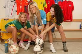 Lesbian soccer team squirt