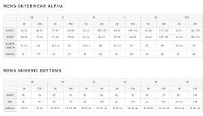 Men S Snowboard Length Chart Spyder Size Chart Ski Pro Snow Ski Snowboard