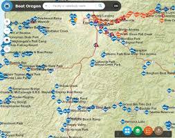 interactive boat oregon map