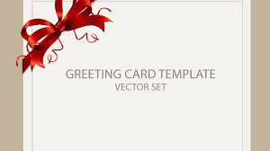 Greeting Card Samples Freebie Greeting Card Templates With Red Bow Ai Eps Psd