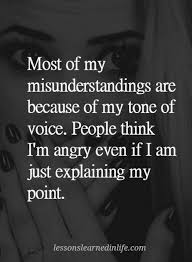 Quotes Most Of My Misunderstandings Are Because Of My Tone Of Voice Unique Misunderstanding Friends Quotes