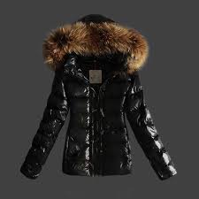 moncler jackets for women black with fur cap and waistband uk