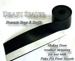 dog door blocker draft sealer for sliding glass doors gla