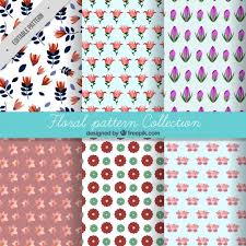 Pattern Collection Simple Variety Of Flowers Pattern Collection Stock Images Page Everypixel