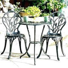 small cafe table umbrella round bistro black
