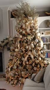Gold, cream and champagne themed Christmas Tree works perfectly in this  white
