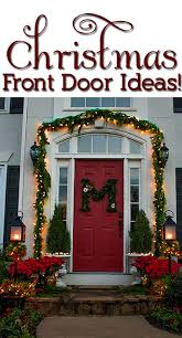 christmas front door decorationsOur Christmas Porch the Home Depot Challenge   View Along the