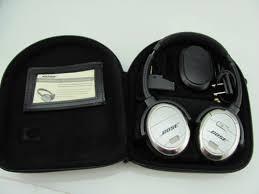 bose noise cancelling headphones case. bose quietcomfort 3 qc3 noise cancelling headphones w/ charger, battery case