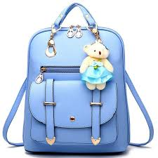 Backpack Purse For Women Large Capacity Leather Shoulder Bags Cute Mini Backpack For Girls Light Blue