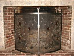 glass fireplace screens free standing firescreen with glass elements stained glass fireplace screens glass fireplace screens