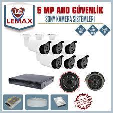 6 Kameralı 5 MP AHD Sony Lens Güvenlik Kamerası Sistemleri - Güvenlik Kamera  Fiyatları
