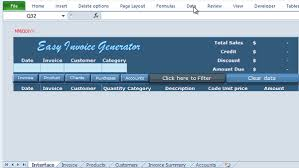 Automatic Invoice Generator Impressive Excel VBA Invoice Generator Easy Invoice Generator Online PC