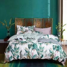 american past style pure cotton 60s egyptian cotton bedding set geometric flower pattern tribute silk duvet cover pillowcase black comforter sets duvet