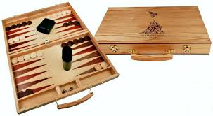 3101 backgammon game set with laser engraving on the top