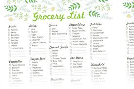 grocery list template printable free printable grocery list templates new shop addition by