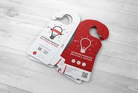 creative door hangers. Creative Door Hanger Mock-up Hangers