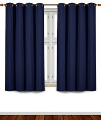Short Length Bedroom Curtains Amazoncom Utopia Bedding Grommet Top Thermal Insulated Blackout
