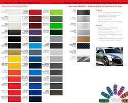 3m Vinyl Wrap Color Chart 76 Organized Unique Car Wrap Colors