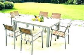 mantega faux wood folding patio dining table thresholdtm plastic set round for sets wooden eucalyptus seats bryant rectangle faux wood