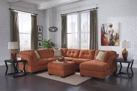 signature design by ashley 19701 delta rust sectional