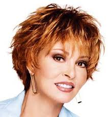 ginger spiky hairstyle for short hair over 50
