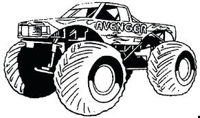 Monster Truck Coloring Pages Exciting Pictures To Print For Online