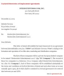 letter of intent agreement business agreement sample letter